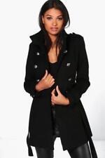 Cappotti e giacche da donna militare nero in lana