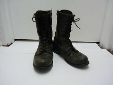 Harley Davidson Men 9.5? Brown Leather Lace Up Motorcycle Boots WELL WORN READY!