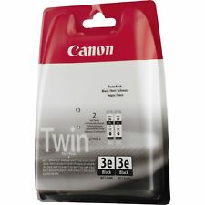 2 x Canon BCI-3eBK Twin Pack Cartouche Pixma iP3000 iP4000 iP5000 4479A298AA