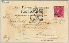 INDIA - POSTAL HISTORY: Indian stamp used on POSTCARD from ADEN to ITALY 1903