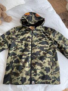 Men Camouflage Jacket Full Zipper Green Bape or Purple A Bathing Ape Size 3XL