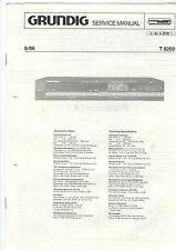 Grundig Service Anleitung Manual Receiver T 8200   B404