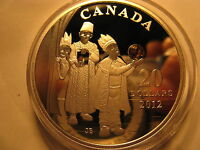 Canada 2012 $20 Holiday Crystal Coin Three Wise Men Fine Silver Rare Coin.