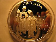CANADA 2012 $20 HOLIDAY CRYSTAL COIN THREE WISE MEN FINE SILVER RARE COIN!
