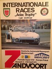 Porsche Internationale Races ADAC Zandvoort Extremely Rare! Car Poster One Only!
