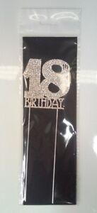 18th Birthday Diamante Cake Topper Decoration (6cm) Pk 1
