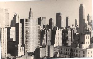 USA, New York, vue prise du Taft-hotel, 1947 Vintage silver print  Tirage arge