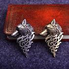 Hot Wolf Head Badge Brooch Lapel Pin Men Women Shirt Suit Dress Cloth Accessory