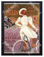 Historic Delin Cycles Automobiles, 1898 Advertising Postcard
