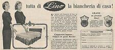 W1753 Tutta di Lino la biancheria di casa - Pubblicità del 1958 - Vintage advert