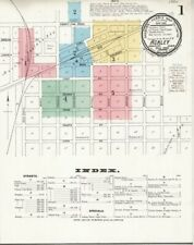 Ackley, Iowa~Sanborn Map© sheets~26 map sheets 1883 to 1916 in full color