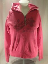 Old Navy Fuchsia Pink Leftys Billiard Club Hoodie Hooded Pullover Sweatshirt L