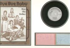 BAY CITY ROLLERS (BYE BYE BABY) SIGNED AUTOGRAPHS