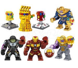 The  Avengers Infinity Gauntlet Minifigures Thanos Iron Man Hulk Building Blocks