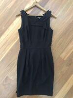 Size 8 Black Cue Corporate Wear To Work Dress Career Wear Sleeveless Office