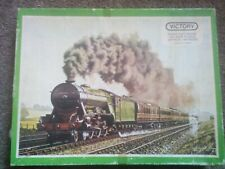 Vintage 1978 Victory LNER Lemberg Steam Train Hand Cut Wooden Jigsaw Puzzle