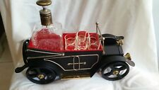 Vinage Model-T Bar Cart with movable wheels and canope Decanter and shot glasses