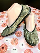 Metallic Gold Elastic Stretch Ballet Flat Sacha London Eu 41 , Us 8