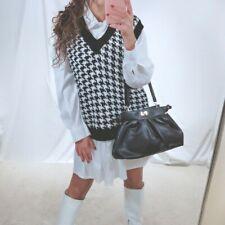 Gilet smanicato donna pullover golfino maglione in maglia scollo a V nuovo 2275