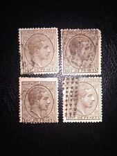 España 1878 Edifil 192 cuatro sellos usados