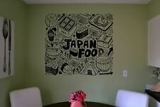 Wall Vinyl Sticker Decals Mural Room Design Japanese Food Sushi Rolls  bo1886