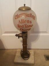 RARE Antique Soda Fountain Cherryallen Allens Red Tame Cherry Syrup Dispenser