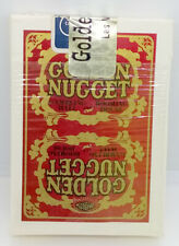 Golden Nugget Casino Playing Cards Red Gold Sealed Bj Table Used Deck Las Vegas