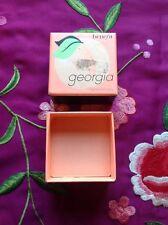 "BNIB - Genuine Georgia by Benefit - a ""just peachy"" face powder - With  brush"