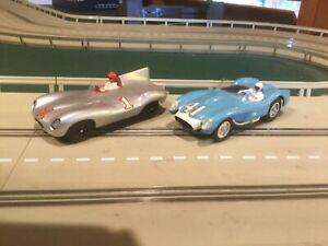 Jaguar v Ferrari - Two 1/32 Scale vintage slot cars - Strombecker