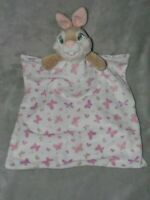 DISNEY BABY THUMPER COMFORTER PINK BUTTERFLY SOFT TOY WHITE BLANKIE DOUDOU