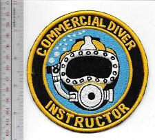 SCUBA Hard Hat Diving Commercial Diver Instructor Qualification Patch Gold on Bl