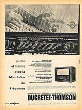 PUBLICITE ADVERTISING 045  1958  DUCRETET-THOMSON   radio MF
