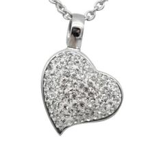 Heart Necklace Love Pendant with Swarovski Crystals Jewelry By Controse