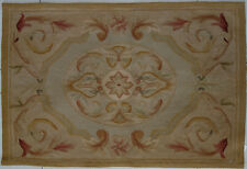 2' x 3' Old Vintage Shabby French Rural Homes Decor Aubusson Area Rug#129