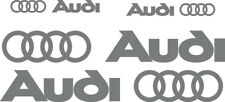 4 adesivi logo audi sticker side fiancate A1 A3 A4 A5 A6 Q3 Q5 Q7 tt  grigio
