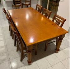 pine dining sets for sale ebay rh ebay com au