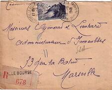 BOUCHES DU RHONE - MARSEILLE BOURSE - LETTRE RECOMMANDEE LE 18-5-1948.