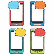 "Student Smartphones & Speech Bubbles 6"" Designer Cut-Outs Creative Teaching Pres"