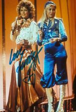 More details for anni-frid lyngstad signed 6x4 photo abba waterloo autograph memorabilia + coa