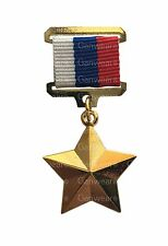 Gold Star Medal Award Hero of the Russian Federation Order - Excellent Copy