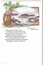 The Upper Lake, Killarney PPC 1908 PMK Attractive Verse Card, Vignette