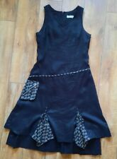 Ladies LAILISHI DESIGNER Long Black Dress,UK 14, Ruffled Layer Hem, Boho, Quirky