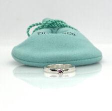 Tiffany & Co. Elsa Peretti-Pink Sapphire Stacking Ring/Band size 5.5 TC110