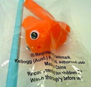 Kellogg's Finding Nemo Drinking Straw Promotional Cereal Toy Premium Orange Fish