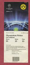 Orig.Ticket   Champions League  11/12  BORUSSIA DORTMUND - OLYMPIAKOS PIRÄUS  !!