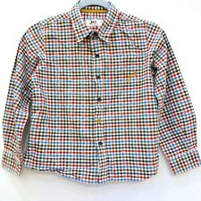 JOULES Boys Red Blue Cotton Checked Shirt Top Size 10-11 IMMACULATE