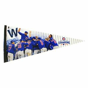 Official 2016 MLB World Series Champions Chicago Cubs Celebrating Pennant 17x40