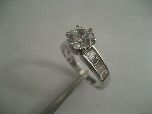 18kt White Gold Baguette Diamond Engagement Ring