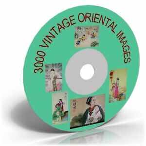 3000 VINTAGE ORIENTAL CHINA & JAPANESE ART IMAGES ON CD