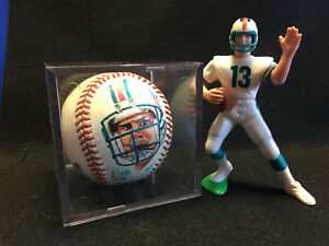 1996 Dan Marino Portrait Baseball 1989 Figurine with Helmet Miami Dolphins